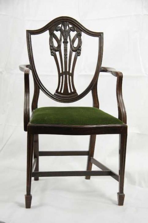 8er Satz Georgean Style Stühle Mahagoni 6+2