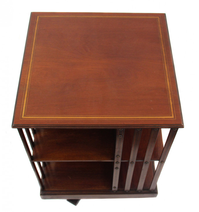Revolwing Bookcase Original Edwardian  Mahagoni