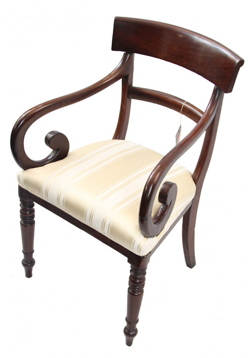 Scroll Arm chair Mahagoni Armlehnstuhl  viktoriansich