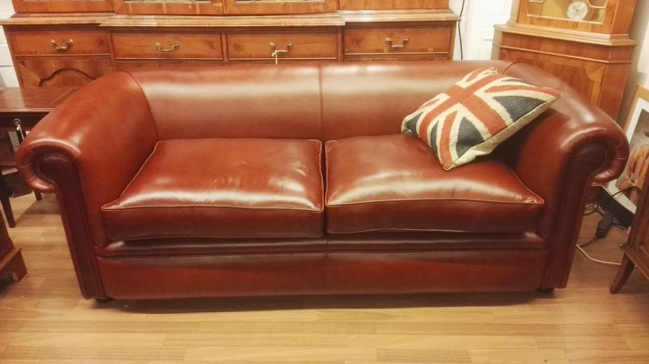 """London Classic"" 3-Sitzer in Old English Chestnut"