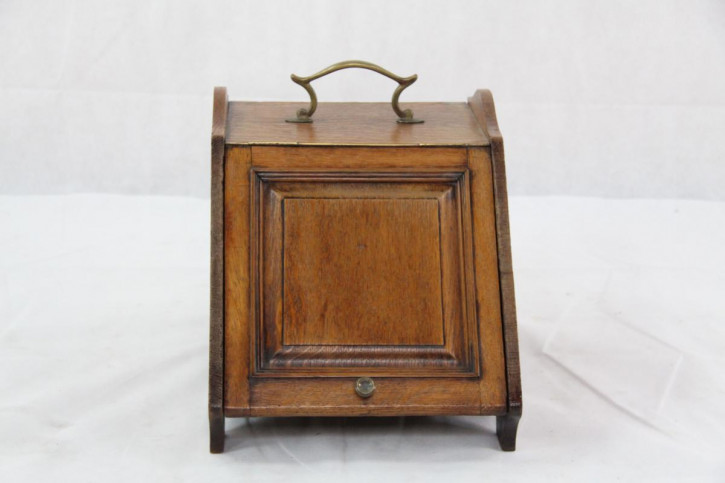 Coal Box  Victorianische Kohlebox Eiche Original