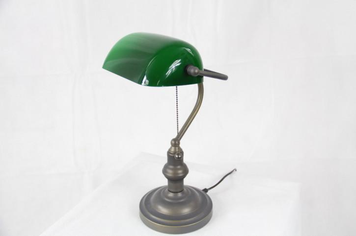 Englische Bankerslamp  Klassik 1 Grüner Schirm