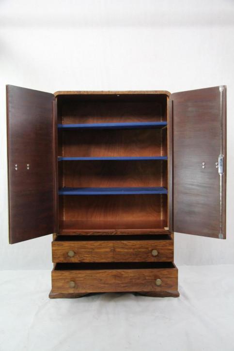 """""""Menscupboard"""" Art Deco Kleiderschrank aus Nussbaum Herrenschrank Wardrobe"""