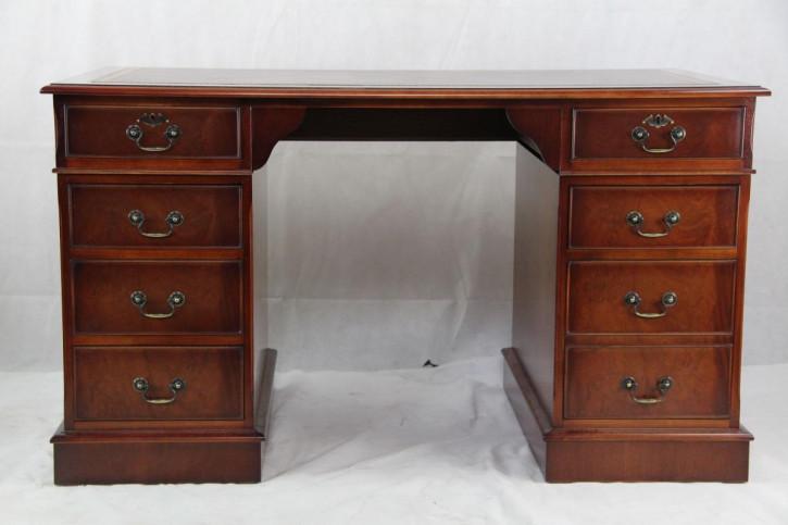 Schreibtisch Mahagoni Sonderbau handpoliert aus England