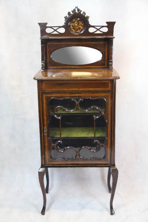 Mahagoni Musikschrank Spiegelvitrine  Cabinet
