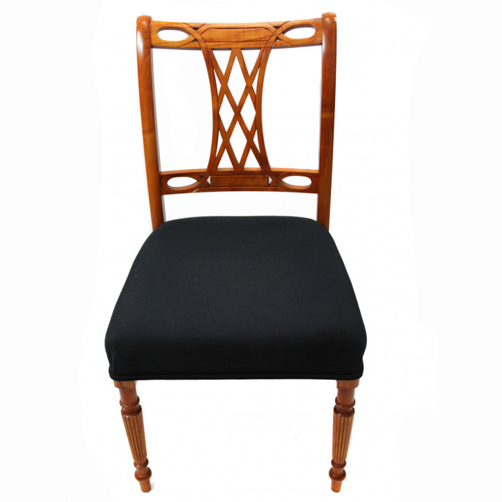 Victorian style single chair Kirschholz   handpoliert