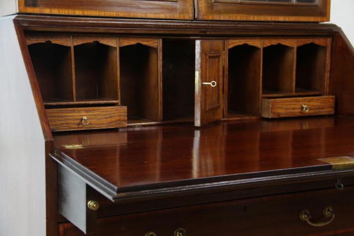 Aufsatzsekretär Bureau bookcase Edwardian england 1890