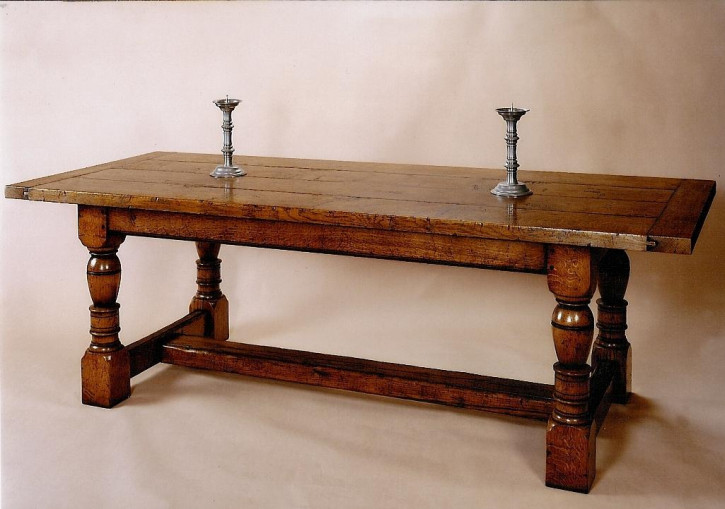 Oak Refectory Table 230 x 90 cm  Refektionstisch massive Eiche