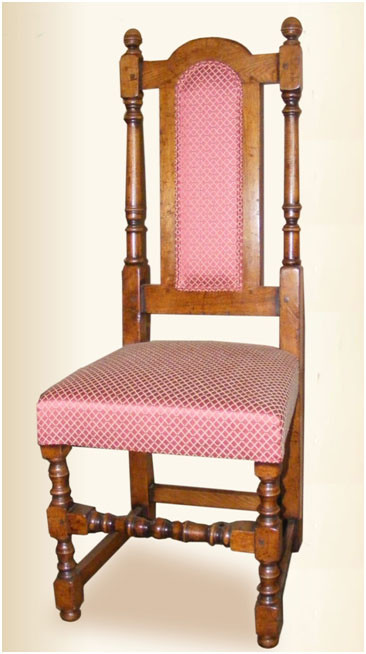 Regal Chair with Upholstered Back