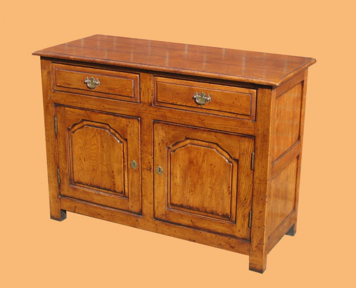 Enclosed Low 2 Drawer 2 Door Dresser
