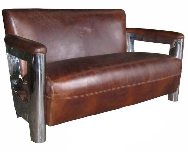 Clubsofa Inox Vintage Braun