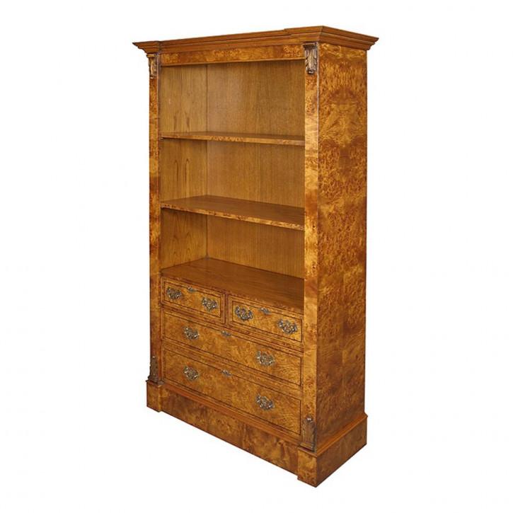 Bücherschrank mit Schubladen