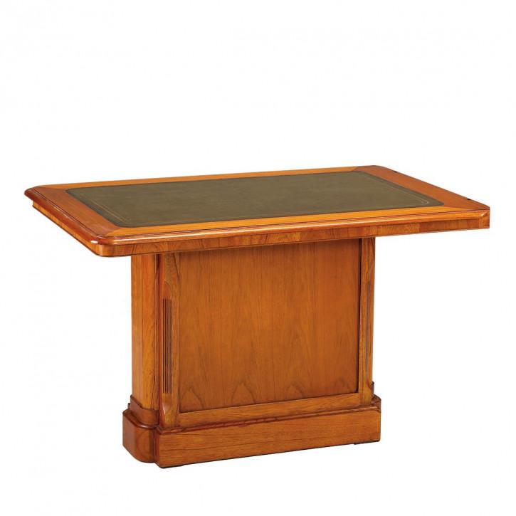 Meeting Tisch Bürotisch Schreibtisch aus Holz mit Leder Oberflaäche Bürosystem