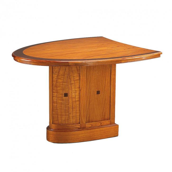 Meeting Tisch Oval Bürotisch Schreibtisch Bürosystem aus Holz