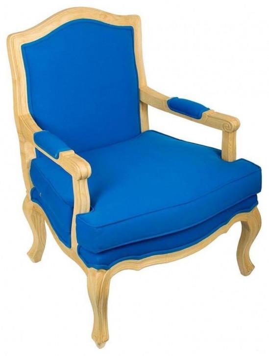 "Komfortabler französischer Sessel klassischer Sessel Stoff ""LXV"""