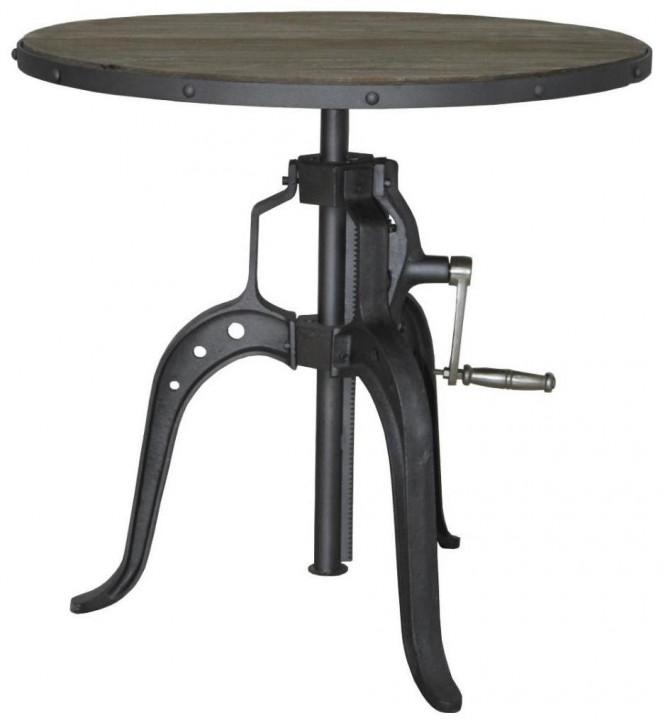 Industrial Style Esstisch 75 cm ∅, höhenverstellbar