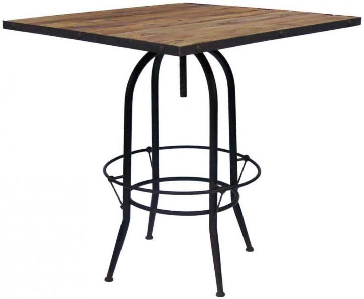 Industrial Style Bartisch, quadratische Tischplatte