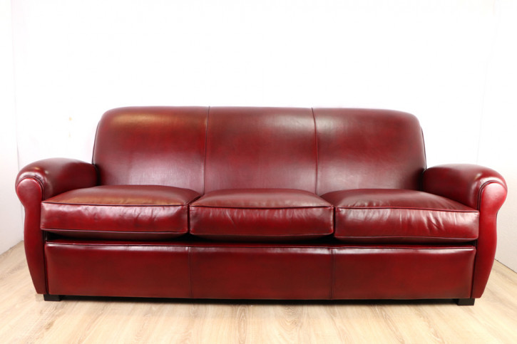 """Orlando"" Clubsofa 3-Sitzer in Classic Rouge Sofort Lieferbar"