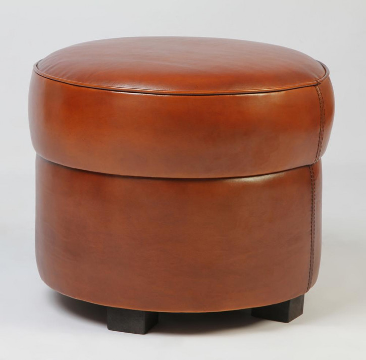 Hocker Art Deco Rund