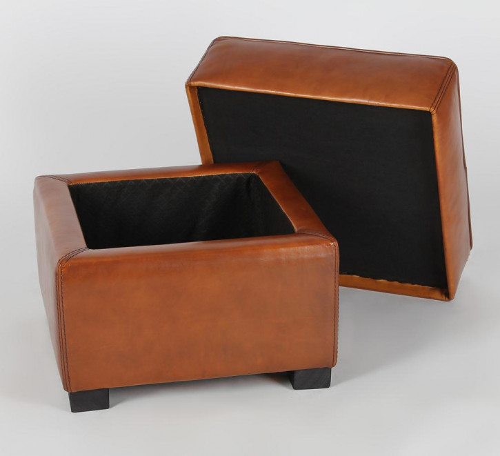 Hocker Art Deco mit Staufach