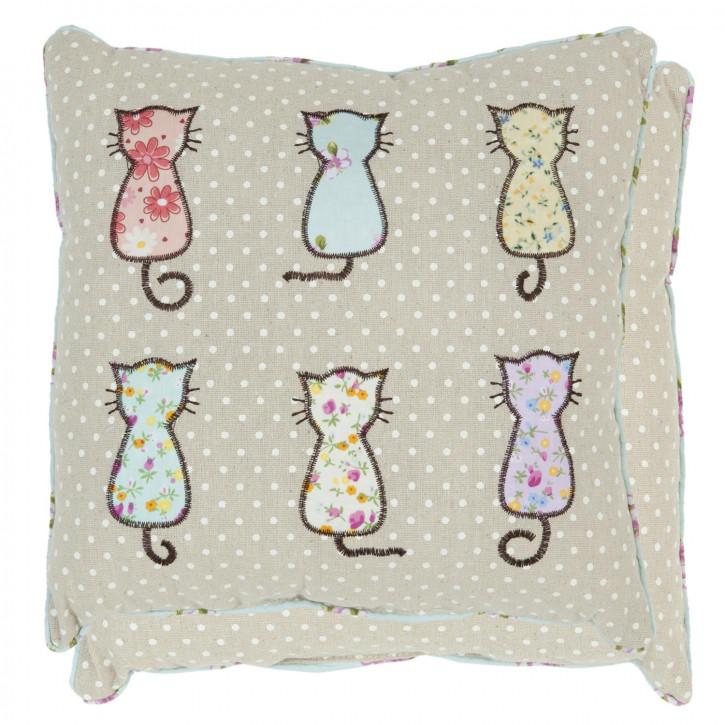 Zierkissen Katzen ca. 30 x 30 cm