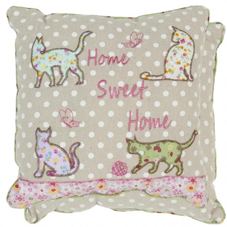 Zierkissen Home Sweet Home ca. 30 x 30 cm
