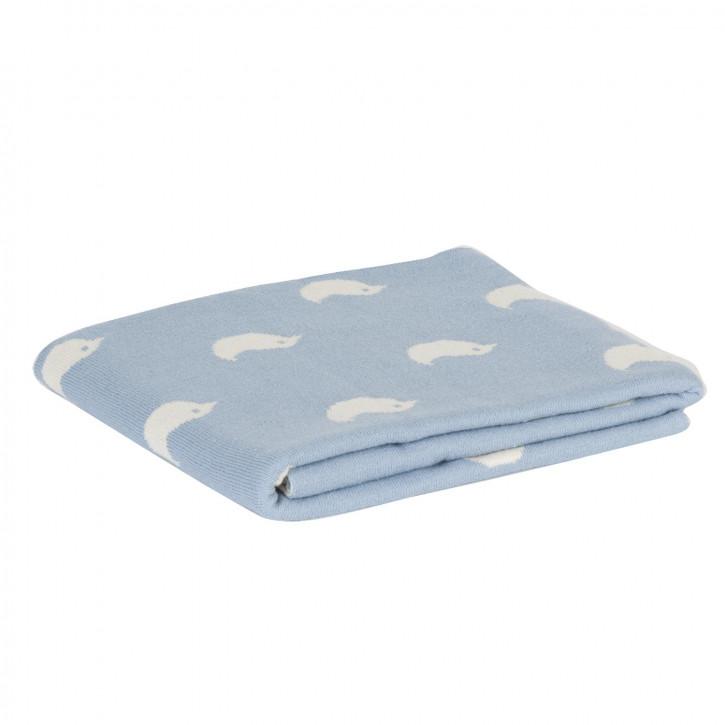 Gemütliche Decke blau 80*100 cm