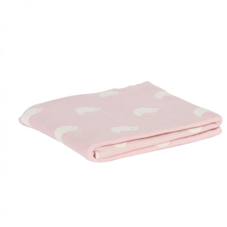 Gemütliche Decke rosa 80*100 cm