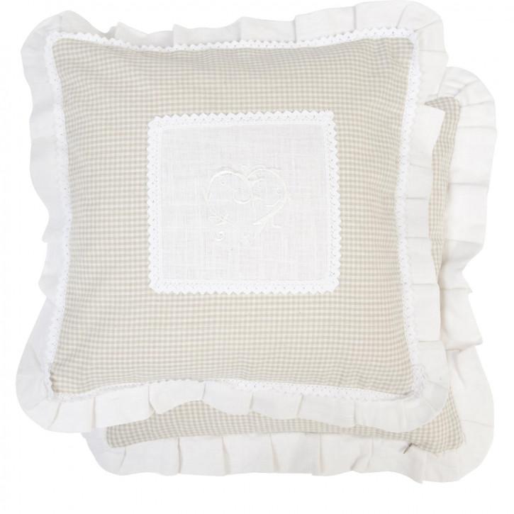 Schönes Kissen beige weiß 40*40cm