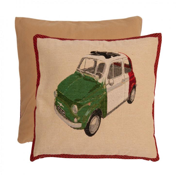 Kissenhülle Fiat Italia ca. 40 x 40 cm