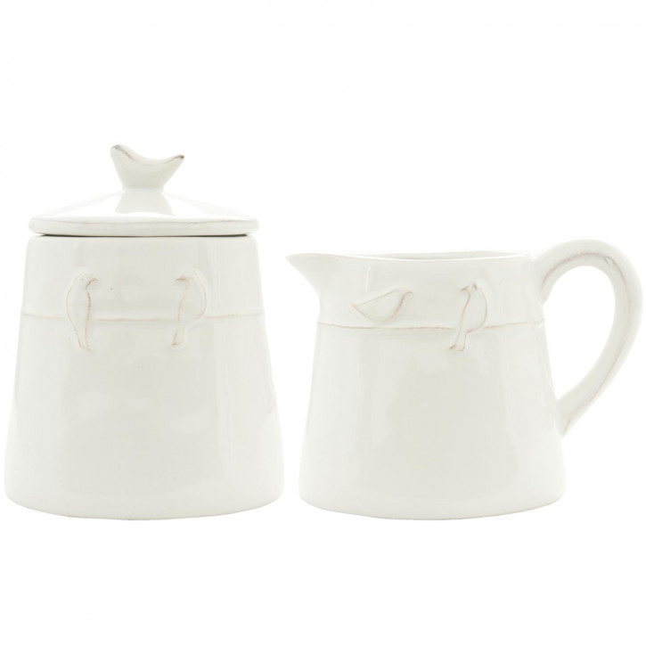 Milk jug & sugar bowl 12x9x9/9x9x12 cm