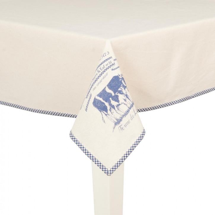 Lait De Vache Tischdecke blau ca. 130 x 180 cm