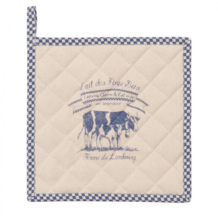 Lait De Vache 1 Topflappen blau ca. 20 x 20 cm