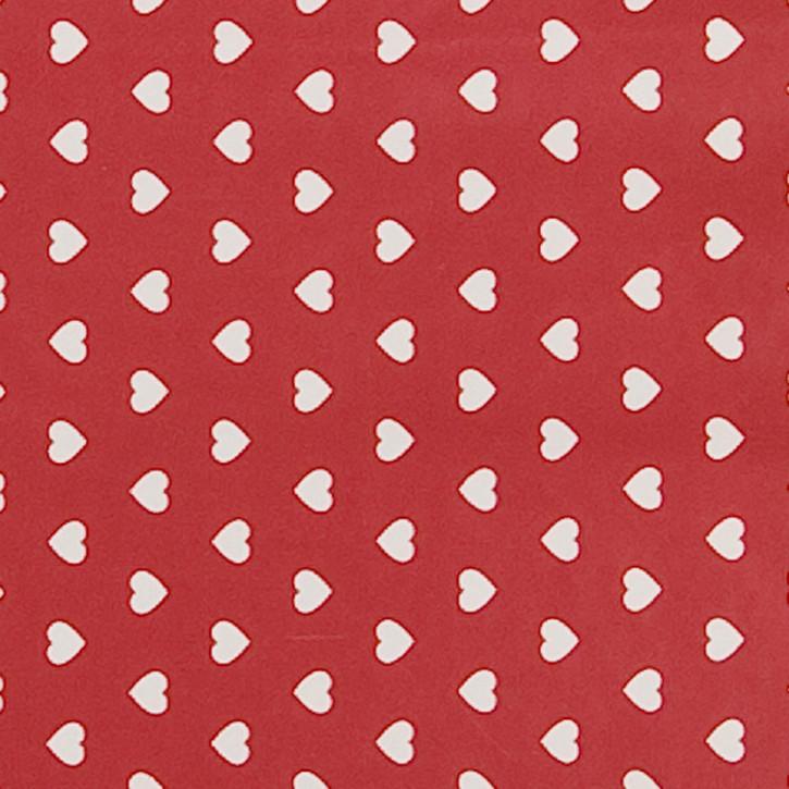 Wachstischdecke Herzen Rot 50 x 140 aus PVC