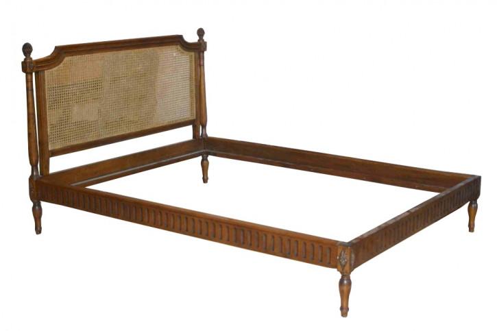 antikes replika Bett Louise XVI 140 x 190 Holz ohne Fußteil