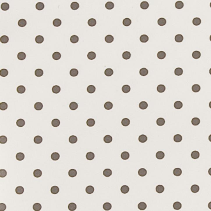 Wachstuch Tischtuch graue Punkte 50 x 140 cm
