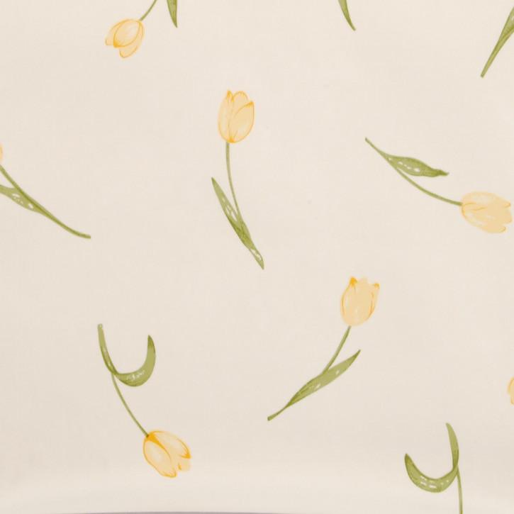 Wachstuch Tulpe gelb - Wachstuch - Tischtuch - Tischdecke --- 140 x 20...