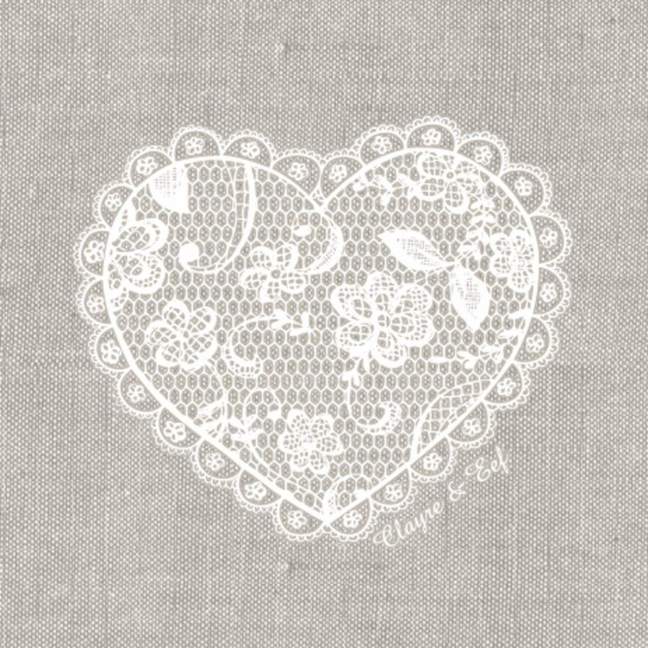 Papierservietten 33x33 (20er Set) Lace with Love