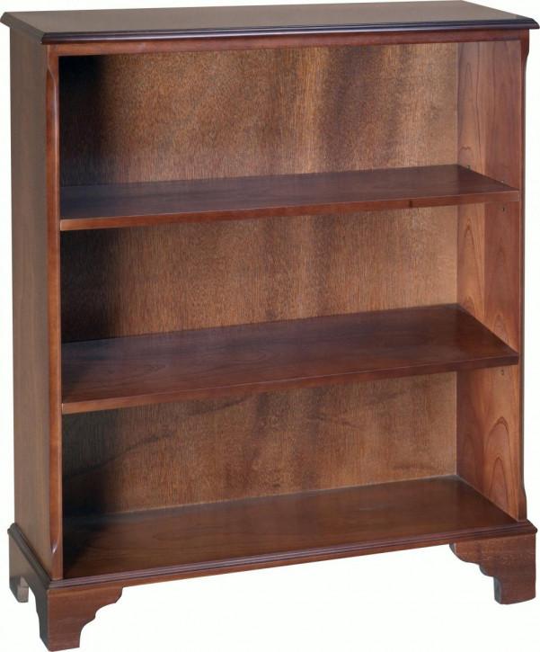 Bücherschrank mit zwei Regalböden, offen