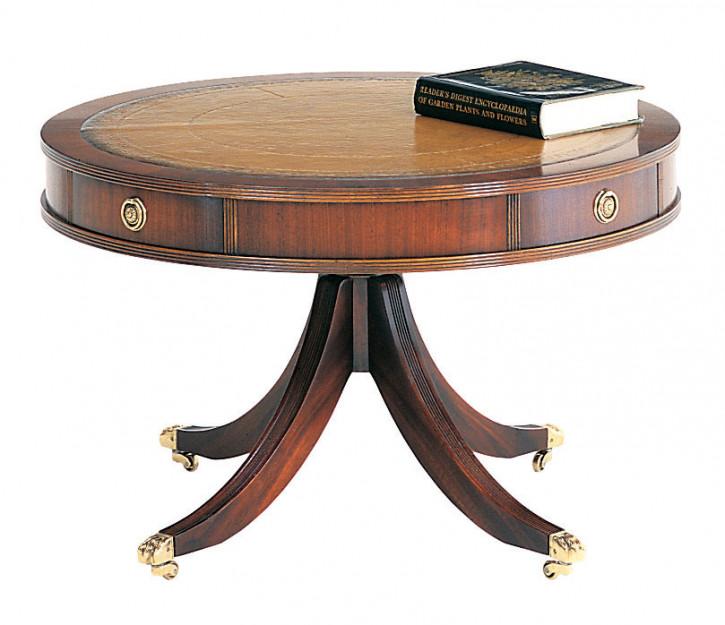 Drum-Tisch aus dunklem Mahagoniholz