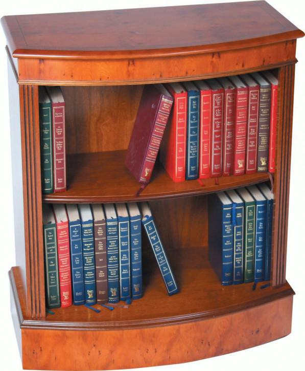 Kleines Bow Front Bücherregal aus Mahagoni
