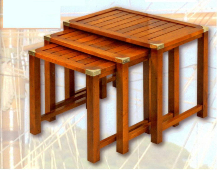 Marine Campagne Nest of Tables, 64 x 43 x 50cm