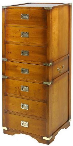 Marine Campagne Chest - 7 drawer, 47 x 45 x 124cm