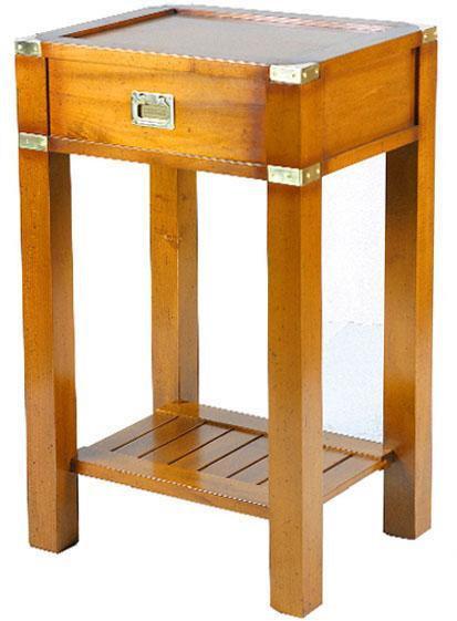 Marine Campagne Telephone Table, 50 x 40 x 80cm