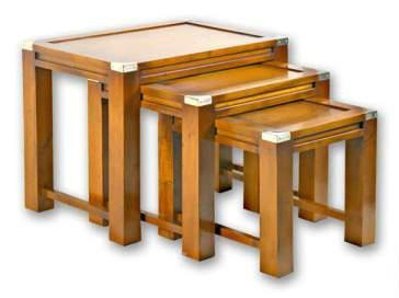 Marine Campagne Nest of Tables, 64 x 63 x 50cm