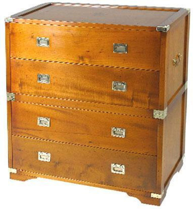 Marine Campagne Chest - 4 drawer, 90 x 45 x 95cm