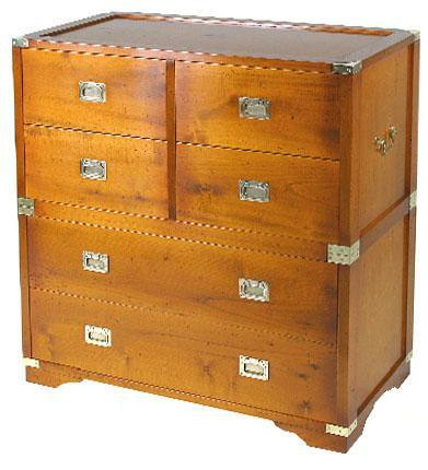 Marine Campagne Chest - 6 drawer, 90 x 34 x 95cm