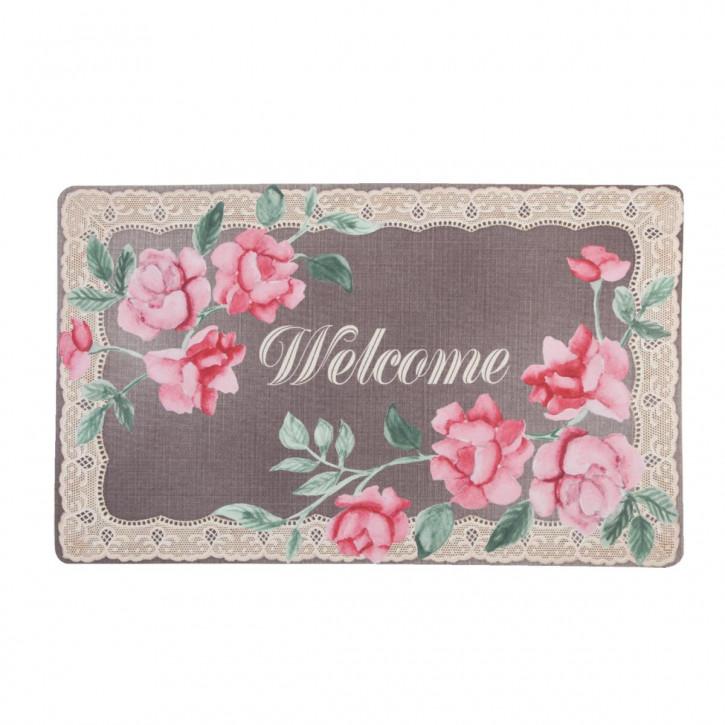 """Fußmatte """"Welcome Rose"""" 74*44cm"""