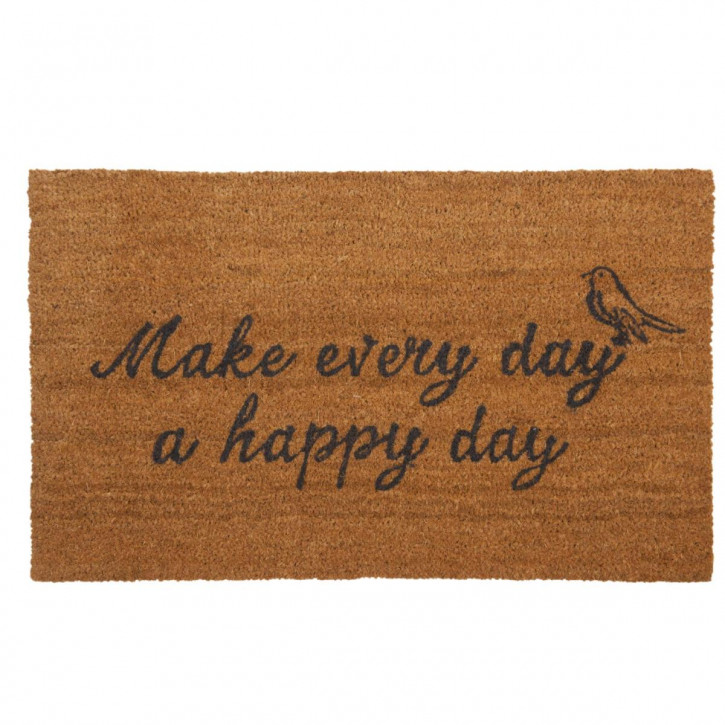 "Türmatte ""Make every day a happy day"" 75x45 cm"