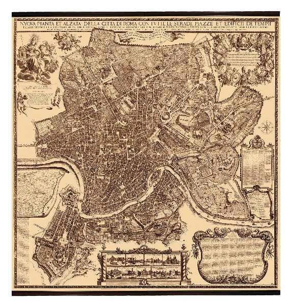 Karte Rom 1676